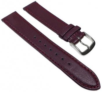 Graf Miami Ersatzband XL 19mm Uhrenarmband rot Leder Naht Band Kalbnappa