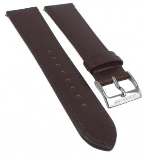 Junghans Meister Chronoskope 21mm Ersatzband Leder braun 027/4120