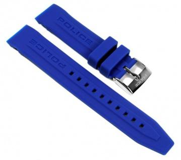 Police Cyber Uhrenarmband Kautschuk Signalblau 22mm für Herrenuhr P12898JS-02G 12898J