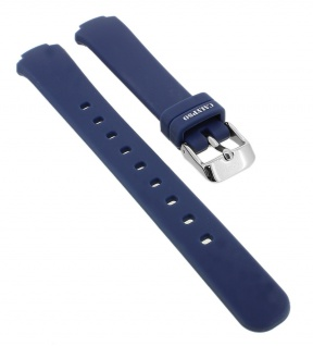 Calypso Ersatzband aus Silikon in blau mit Schließe silberfarben Spezial Anstoß K6069/5