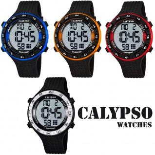 Calypso Herrenarmbanduhr Quarzuhr Kunststoffuhr mit Polyurethanband Alarm-Chronograph digital alle Modelle K5663