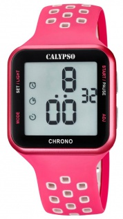 Calypso Armbanduhr digital Quarzuhr Kunststoffuhr mit Alarm Stoppfunktion Timer digital K5748/2