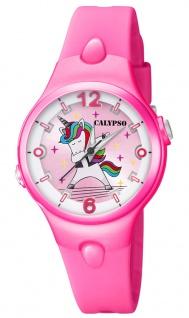 Calypso Kinderuhr analog pink Kunststoff Quarz Einhornmotiv K5784/6 K5784