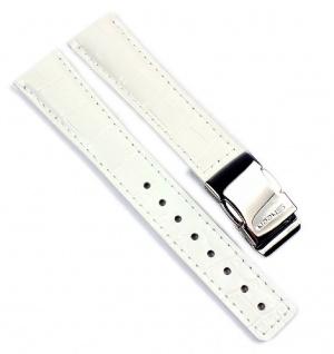 Uhrenarmband Leder Band Weiss 18mm Casio Sheen Ersatzband für SHN-3013L