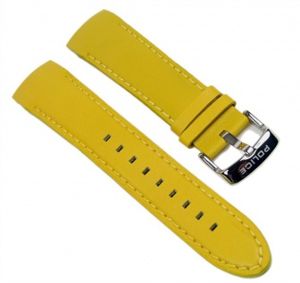 Police Cyber Uhrenarmband Leder Gelb 22mm für Herrenuhr P12898JS 12898J
