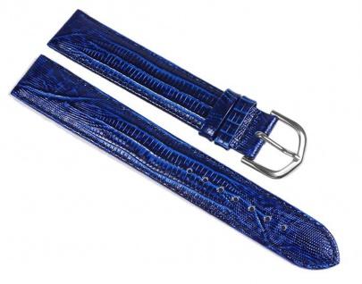 Minott Eidechs-Narbung Uhrenarmband Kalbsleder Band XL Blau 23581S