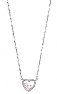 Lotus Silver Halsschmuck Collier Kette mit Herz Anhänger Silber LP1856-1/1