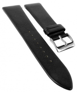 Junghans Mega Ersatzband 22mm Leder schwarz Doppel- Federstege Logo 030/4942