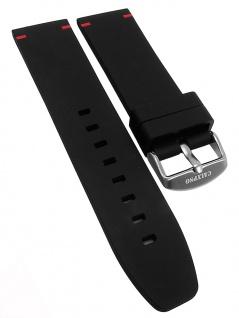Calypso Ersatzband 24mm schwarz mit roten Akzenten Kunststoff K5731/3 K5731