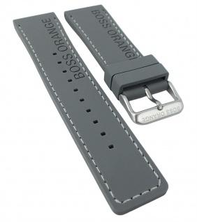 Hugo Boss 1513251 | Uhrenarmband Silikon Band grau mit Naht 24mm 30236