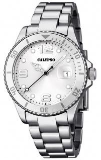 Calypso Armbanduhr Quarzuhr Kunststoffuhr mit Kunststoffband mit Faltschließeanalog K5646