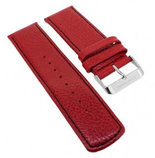 Bruno Banani Big Square Ersatzband 26mm in rot aus Leder SQ4 BR20687 BR20686 BR20682