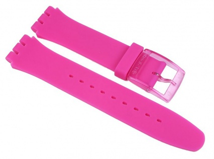 Swatch Pink Lacquered Uhrenarmband Silikon Band Pink 19mm für New Gent SUOP100