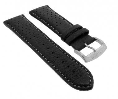 Citizen Ersatzband 23mm | Uhrenarmband aus Leder | in Schwarz mit Lochmuster AP4010-03E