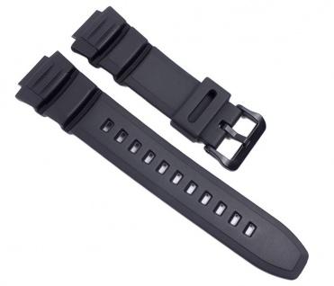 Casio Uhrenarmband Resin Band schwarz für W-S220 HDD-S100
