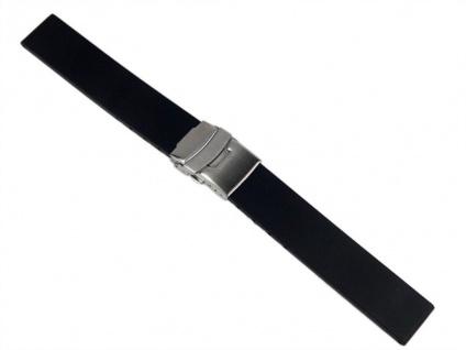 Minott Uhrenarmband Silikon Band 18mm schwarz 19913S