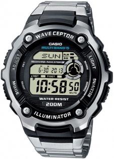 Casio Wave Ceptor Funk digital Herren Armbanduhr Weltzeit WV-200DE-1AVER