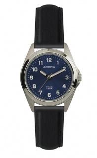Damen Adora Armbanduhr | blaues Ziffernblatt | Lederband | Titangehäuse & Dornschließe | 37849