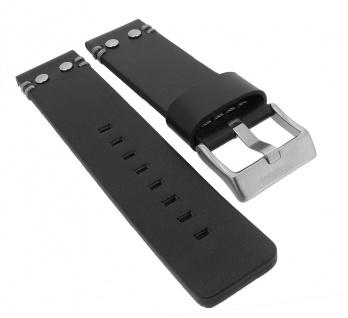 Police Serie Copperhead | Ersatzband aus Leder, schwarz mit Dornschließe für Armbanduhr P14374JS/02