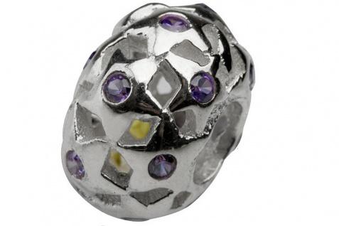 Charlot Borgen Marken Damen Bead Beads Drops Silber mit Zirkonia SCZ-23-Lila