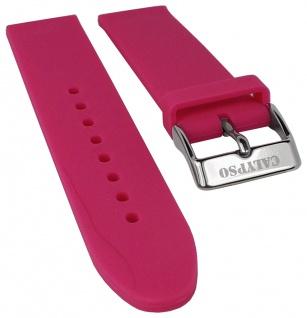 Calypso Watches Uhrenarmband Silikon Band pink weich glatt 18mm K5733/4