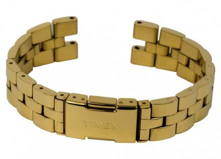 Uhrenarmband Damen Edelstahl Band gelbgoldfarben hochglänzend passend zu Timex T2P548 T2P542
