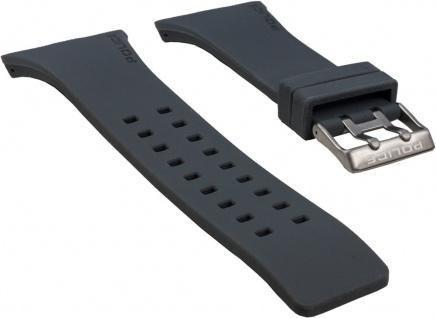 Police Vantage Uhrenarmband Kautschuk Band Grau für P13077MPBS-02