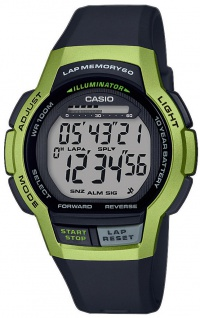 Casio Collection Herrenuhr Resin Schlummerfunktion Timer WS-1000H-3AVEF