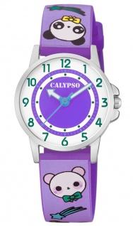 Calypso Kinderuhr analog lila Armbanduhr Uhr Kunstoffband Quarzuhr M6230 bunte Motive K5775/2 K5775