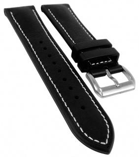 Herzog 3M Scotchg.- Rubber Ersatzband 22mm schwarz weiße Naht Materialmix