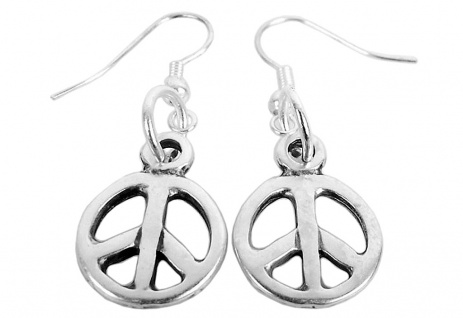 Minott Damen Ohrringe Metall Peace-Anhänger 03575