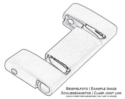 Casio Edifice 1 x Schließenanstoßglied 20mm EQW-M1000DB-1A silbern Edelstahl