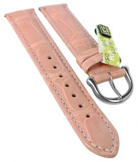 Maurice Lacroix Louisiana | Echtes Krokodilleder | Uhrenarmband, stark bombiert, rosa 34791