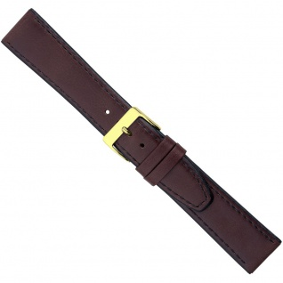 Uhrenarmband Ersatzband Leder Band Dunkelbraun 26589G