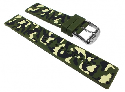 Morellato Camouflage Uhrenarmband Silikon Band Grün / Camouflage 24597S