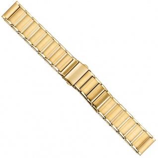 Uhrenarmband Edelstahl Band 20mm PVD-Gelbgold 21219G