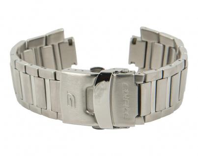 Casio Edifice Uhrenarmband Edelstahl Band Silberfarben für EF-529 10306752