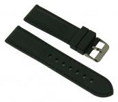 Uhrenarmband Ersatzband Silikon Band mit schwarzer Naht 26690B