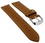 Timex Weekender Chronograph Ersatzband 20mm Leder braun Kontrastnaht TW2R42700