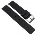 Minott Ersatzband Uhrenarmband Silikon Band schwarz 18mm 19649