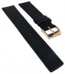 M&M Basic Line 36 Ersatzband 18mm glattes Leder flach schwarz M11892-496 11892-496 11892