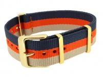 Timex Weekender Nato-Band 18mm Uhrenarmband Durchzugsband Textil mehrfarbig Band PW2P91600