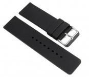 Minott Uhrenarmband Ersatzband Silikon Band schwarz 24mm 19650S