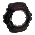 Casio G-Shock G-100 Gehäuse mit Glas CASE/CENTER ASSY schwarz mit roter Schrift