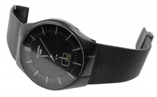 Armbanduhr | Quartz/Funkuhr aus Edelstahl IP Black | Milanaiseband | Ø 39mm 36281