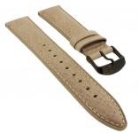 Timex Waterbury | Ersatzband 20mm Leder beige mit Naht mit schwarzer Schließe TW2P74900