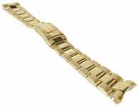 Minott Edelstahlband 20mm   goldfarben u.a. passend für RLX Submariner   Massiv mit Faltschließe 34183