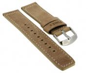 Timex Waterbury 22mm | Ersatzband Leder braun mit heller Kontrastnaht für PW2P84200