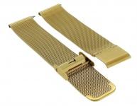Timex Weekender Fairfield 18mm | Ersatzband Milanaise aus Edelstahl in goldfarben | TW2R26500