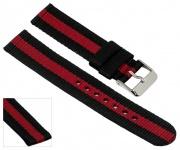 Adora Young Line Kollektion Ersatzband Uhrenarmband Textil Band 18mm schwarz/rot 29066